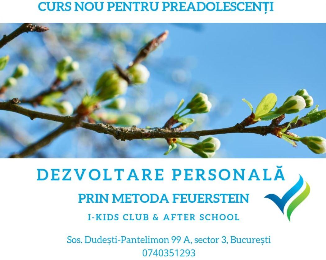 Curs Dezvoltare Personala Preadolescenti prin metoda Feuerstein